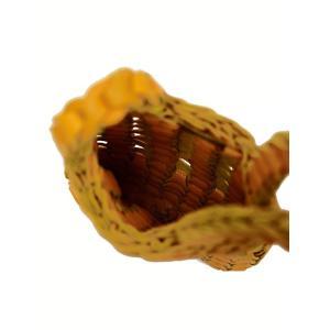 il micio【イル・ミーチョ】 イントレチャートポーチ CHEVRE TORNESOL ゴートレザー イエロー cinqueunaltro 04