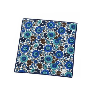 Kinloch【キンロック】プリントハンカチ Girasole blu 0362FA50CO22 コットン ブルー ネイビー|cinqueunaltro|02
