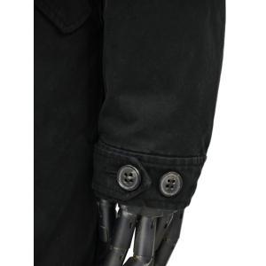 LEMPELIUS【レンペリウス】モッズコート M-51 6000 616S 99 コットン シャーリングムートンファーライニング ブラック|cinqueunaltro|08