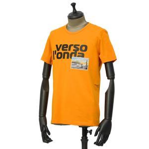 PAOLO PECORA【パオロペコラ】プリントクルーネックカットソー C1M F251 6320 3193 コットン オレンジ|cinqueunaltro