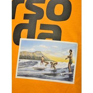 PAOLO PECORA【パオロペコラ】プリントクルーネックカットソー C1M F251 6320 3193 コットン オレンジ|cinqueunaltro|04