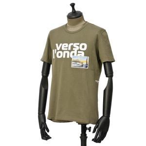 PAOLO PECORA【パオロペコラ】プリントクルーネックカットソー C1M F251 6320 5719 コットン カーキ|cinqueunaltro