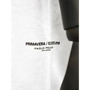 PAOLO PECORA【パオロペコラ】プリントクルーネックカットソー C1M F271 6319 1101 コットン ホワイト cinqueunaltro 04
