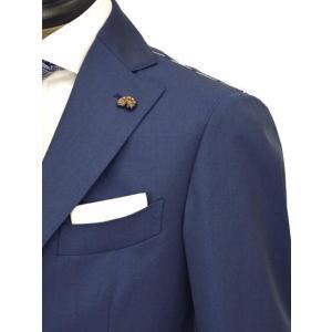 Gabriele Pasini【ガブリエレ パジーニ】シングルスーツ JG11536Q GF1113 210R 999 ウール ソラーロ ブルー|cinqueunaltro|04