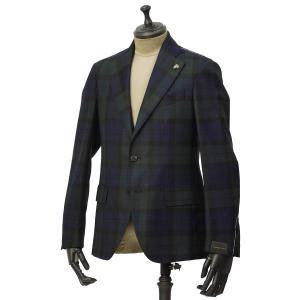 Gabriele Pasini【ガブリエレ パジーニ】シングルジャケット JG14074Q GP14433 10 ウール ブラックウォッチ グリーン ネイビー ブラック|cinqueunaltro