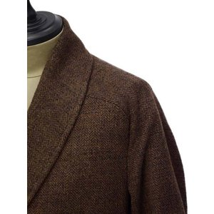 【size44,48】Massimo Piombo【マッシモ ピオンボ】ショールカラーコート SHAWLCOLLA WD036 ヴァージンウール ブラウン|cinqueunaltro|04