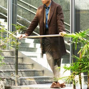 【size44,48】Massimo Piombo【マッシモ ピオンボ】ショールカラーコート SHAWLCOLLA WD036 ヴァージンウール ブラウン|cinqueunaltro|09