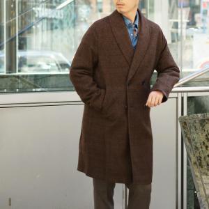 【size44,48】Massimo Piombo【マッシモ ピオンボ】ショールカラーコート SHAWLCOLLA WD036 ヴァージンウール ブラウン|cinqueunaltro|10