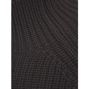 roberto collina【ロベルトコリーナ】リブモックネックニット RY02103 08 ウール ダークブラウン|cinqueunaltro|04