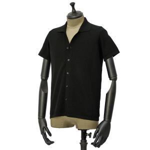 roberto collina【ロベルトコリーナ】ニットシャツ RA11011 09 コットン ブラック|cinqueunaltro