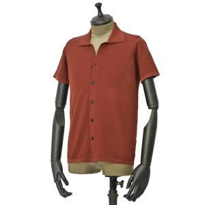 roberto collina【ロベルトコリーナ】ニットシャツ RA11011 36 コットン ボルドー|cinqueunaltro