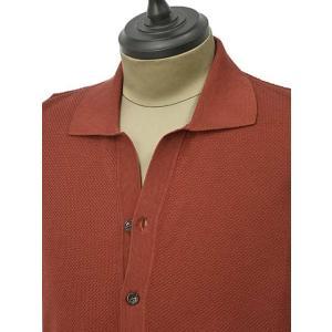 roberto collina【ロベルトコリーナ】ニットシャツ RA11011 36 コットン ボルドー|cinqueunaltro|03