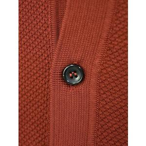 roberto collina【ロベルトコリーナ】ニットシャツ RA11011 36 コットン ボルドー|cinqueunaltro|04