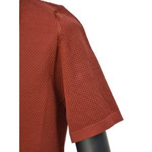 roberto collina【ロベルトコリーナ】ニットシャツ RA11011 36 コットン ボルドー|cinqueunaltro|05