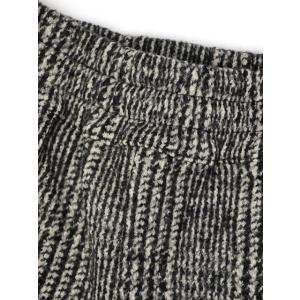 roberto collina【ロベルトコリーナ】ウールリブパンツ RB61060 09 ウール グレンチェック ブラック ホワイト cinqueunaltro 06