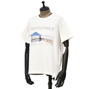 Seagreen【シーグリーン】プリントクルーネックカットソー MSEA21S8203-M 10 WHITE コットン ホワイト|cinqueunaltro