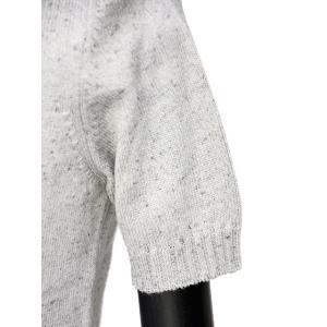 Settefili Cashmere【セッテフィーリ カシミア】キーネックニット RALI2HS LI28 コットン シルク レーヨン ネップ ライトグレー|cinqueunaltro|05