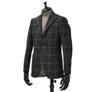THE GIGI【ザ ジジ】シングルジャケット DEGAS G040 950 ウール ウインドペーン ブラック ホワイト|cinqueunaltro