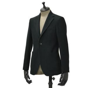 THE GIGI【ザ ジジ】シングルジャケット  VELVET G076 550 ウール へリーンボーン ブラック グリーン|cinqueunaltro