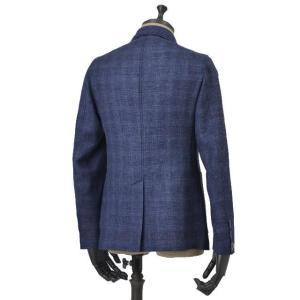 THE GIGI【ザ ジジ】シングルジャケット ANGIE H022 750 ウール リネン ポリウレタン チェック ブルー|cinqueunaltro|02