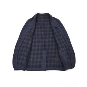 THE GIGI【ザ ジジ】シングルジャケット ANGIE H022 750 ウール リネン ポリウレタン チェック ブルー|cinqueunaltro|03