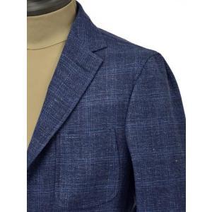 THE GIGI【ザ ジジ】シングルジャケット ANGIE H022 750 ウール リネン ポリウレタン チェック ブルー|cinqueunaltro|04