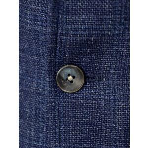 THE GIGI【ザ ジジ】シングルジャケット ANGIE H022 750 ウール リネン ポリウレタン チェック ブルー|cinqueunaltro|05