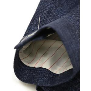 THE GIGI【ザ ジジ】シングルジャケット ANGIE H022 750 ウール リネン ポリウレタン チェック ブルー|cinqueunaltro|06