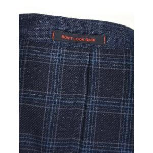 THE GIGI【ザ ジジ】シングルジャケット ANGIE H022 750 ウール リネン ポリウレタン チェック ブルー|cinqueunaltro|07