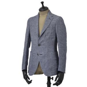 THE GIGI【ザ ジジ】シングルジャケット ANGIE H035 650 リネン ジャガード ブルー|cinqueunaltro