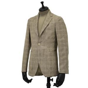 THE GIGI【ザ ジジ】シングルジャケット ANGIE H022 350 ウール リネン ポリウレタン チェック ベージュ|cinqueunaltro