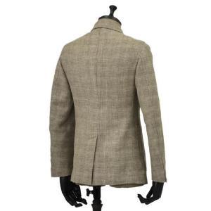 THE GIGI【ザ ジジ】シングルジャケット ANGIE H022 350 ウール リネン ポリウレタン チェック ベージュ|cinqueunaltro|02