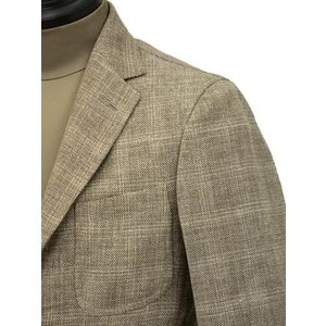 THE GIGI【ザ ジジ】シングルジャケット ANGIE H022 350 ウール リネン ポリウレタン チェック ベージュ|cinqueunaltro|04