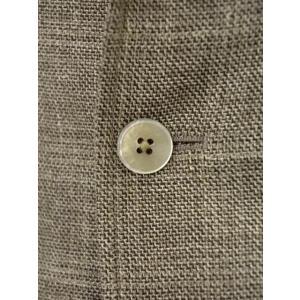 THE GIGI【ザ ジジ】シングルジャケット ANGIE H022 350 ウール リネン ポリウレタン チェック ベージュ|cinqueunaltro|05