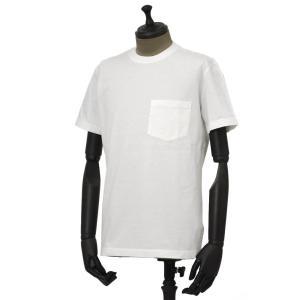 THE GIGI【ザ ジジ】ポケット付きクルーネックカットソー RODI/T H821 100 コットン ホワイト|cinqueunaltro