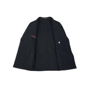 THE GIGI【ザ ジジ】ダブルジャケット MIRO' DP-GO 710 コットン ジャガード ストライプ ネイビー|cinqueunaltro|03