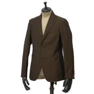 THE GIGI【ザ ジジ】シングルジャケット ANGIE+T K201 300 ウール リネン ブラウン|cinqueunaltro