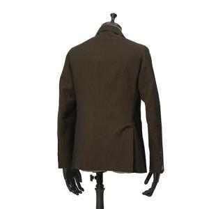 THE GIGI【ザ ジジ】シングルジャケット ANGIE+T K201 300 ウール リネン ブラウン|cinqueunaltro|02