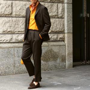 THE GIGI【ザ ジジ】シングルジャケット ANGIE+T K201 300 ウール リネン ブラウン|cinqueunaltro|08