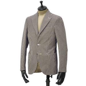 THE GIGI【ザ ジジ】シングルジャケット ART K601 200 コットン ギンガムチェック ブラウン ブラック|cinqueunaltro