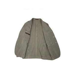 THE GIGI【ザ ジジ】シングルジャケット ART K601 200 コットン ギンガムチェック ブラウン ブラック|cinqueunaltro|03