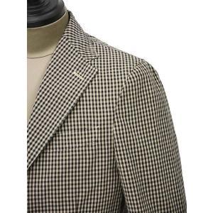 THE GIGI【ザ ジジ】シングルジャケット ART K601 200 コットン ギンガムチェック ブラウン ブラック|cinqueunaltro|04