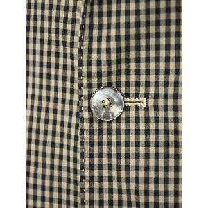 THE GIGI【ザ ジジ】シングルジャケット ART K601 200 コットン ギンガムチェック ブラウン ブラック|cinqueunaltro|05