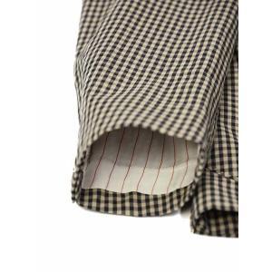 THE GIGI【ザ ジジ】シングルジャケット ART K601 200 コットン ギンガムチェック ブラウン ブラック|cinqueunaltro|06