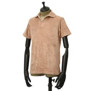 THE GIGI【ザ ジジ】スキッパーポロシャツ THAITI K819 1020 コットン パイル ピンクベージュ|cinqueunaltro