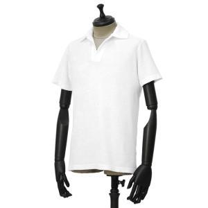 THE GIGI【ザ ジジ】スキッパーポロシャツ THAITI K819 101 コットン パイル ホワイト|cinqueunaltro