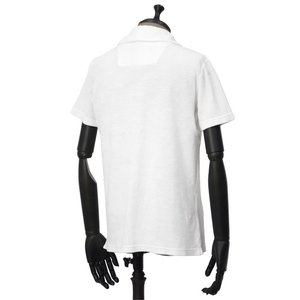 THE GIGI【ザ ジジ】スキッパーポロシャツ THAITI K819 101 コットン パイル ホワイト|cinqueunaltro|02