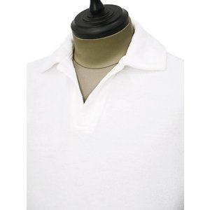 THE GIGI【ザ ジジ】スキッパーポロシャツ THAITI K819 101 コットン パイル ホワイト|cinqueunaltro|03