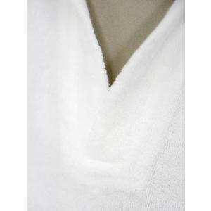 THE GIGI【ザ ジジ】スキッパーポロシャツ THAITI K819 101 コットン パイル ホワイト|cinqueunaltro|04