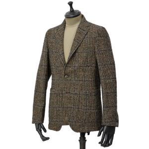 THE GIGI【ザ ジジ】シングルジャケット ANGIE L025 350 ウール ナイロン アクリル グレンチェック ブラウン レッド ブルー|cinqueunaltro